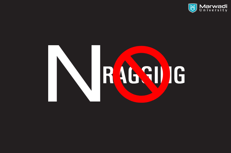 helpline no for Stop ragging in marwadi university