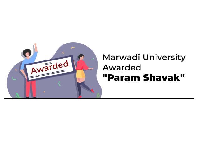 "Marwadi University Awarded ""Param Shavak"" by Gujarat Government"
