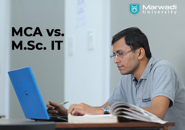 mca vs msc it marwadi university