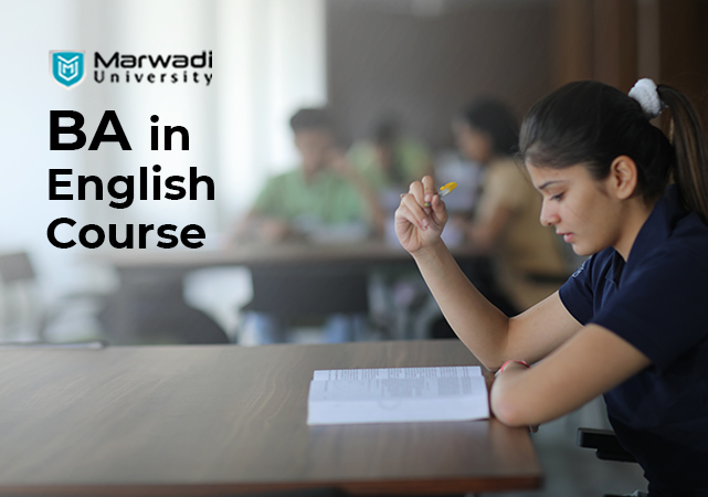 BA in english course marwadi university