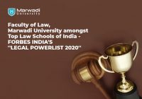 MU Faculty of Law, Marwadi University Bestowed As One of the Top Law Schools in Forbes India's Legal Powerlist 2020